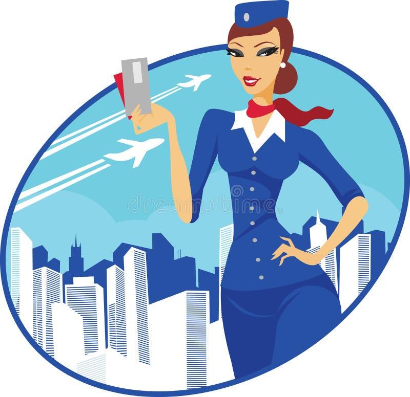 Asistente de vuelo libre illustration