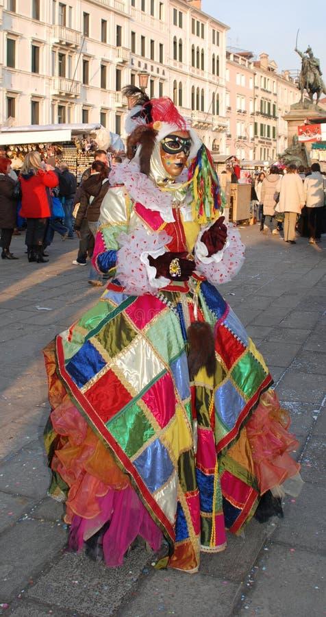 Asistente del carnaval del arlequín imagen de archivo libre de regalías