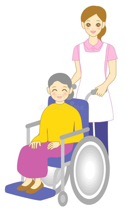 Asistente del cuidado libre illustration