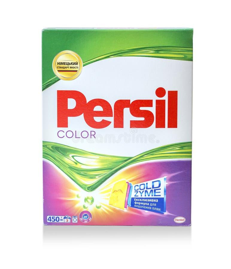 Ask av Persil icke-bio tvagningpulver royaltyfria bilder
