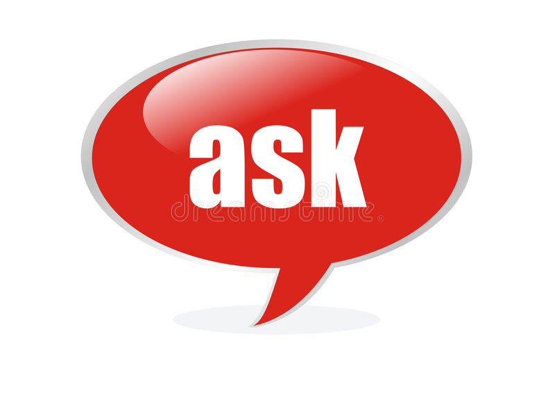 Ask cloud buble stock illustration