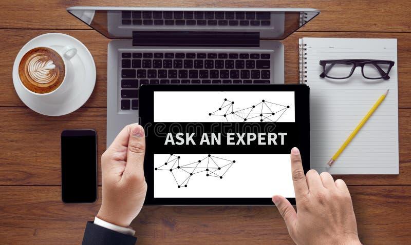 ASK AN EXPERT CONCEPT stock image