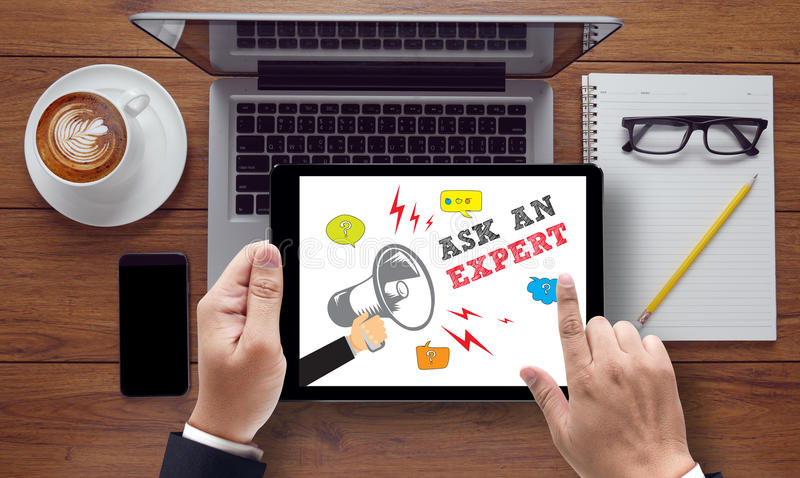 ASK AN EXPERT Concept royalty free stock photo