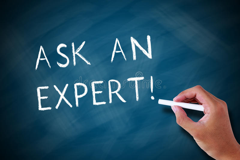 Ask an expert royalty free stock photo