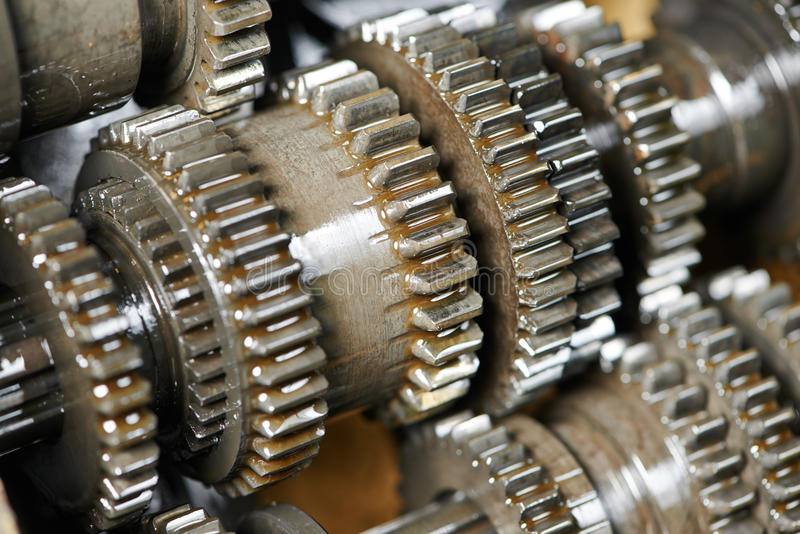 Ask för bilmotor eller överföringskugghjul arkivbilder