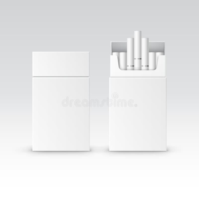 Ask för packe för vektormellanrumspacke av cigaretter stock illustrationer
