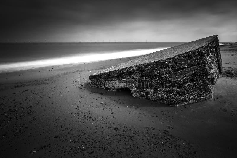 Ask för preventivpiller för världskrig på caister på havet Great Yarmouth royaltyfria foton