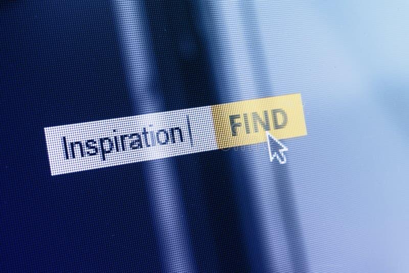 Ask för sökande för inspirationbegreppsdator royaltyfri bild