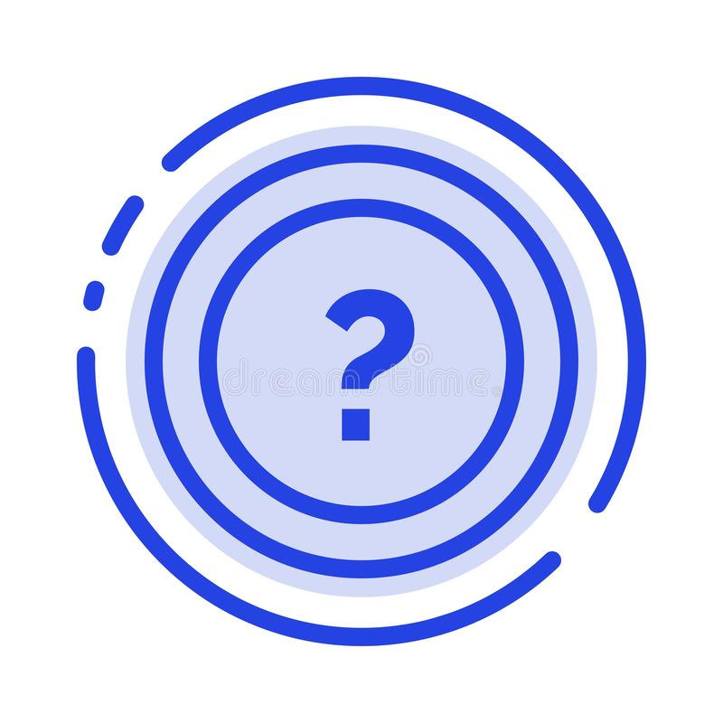 About, Ask, Information, Question, Support Blue Dotted Line Line Icon vector illustration