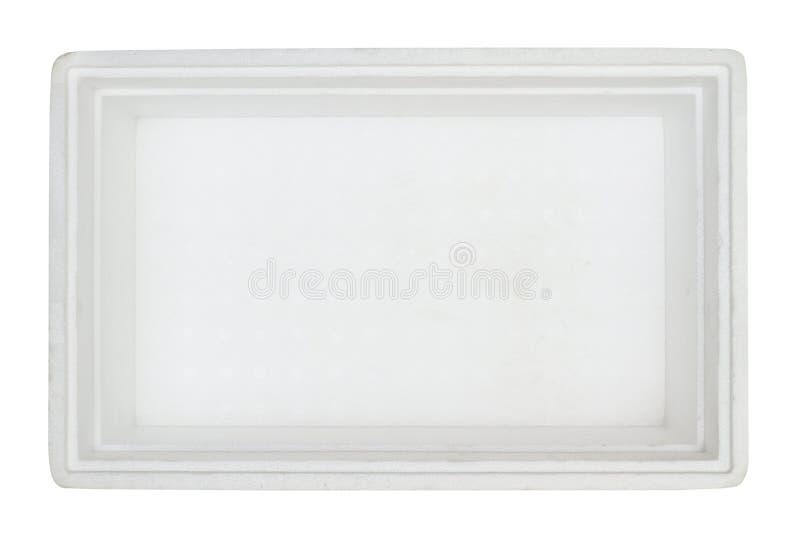 ask inom styrofoam royaltyfria bilder