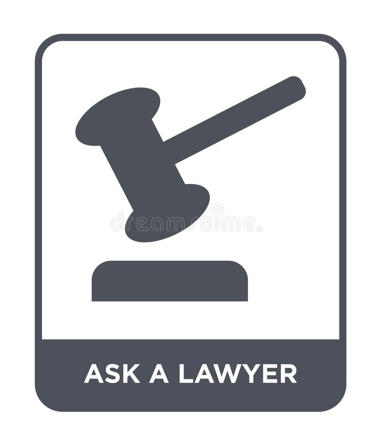 ask a lawyer icon in trendy design style. ask a lawyer icon isolated on white background. ask a lawyer vector icon simple and vector illustration