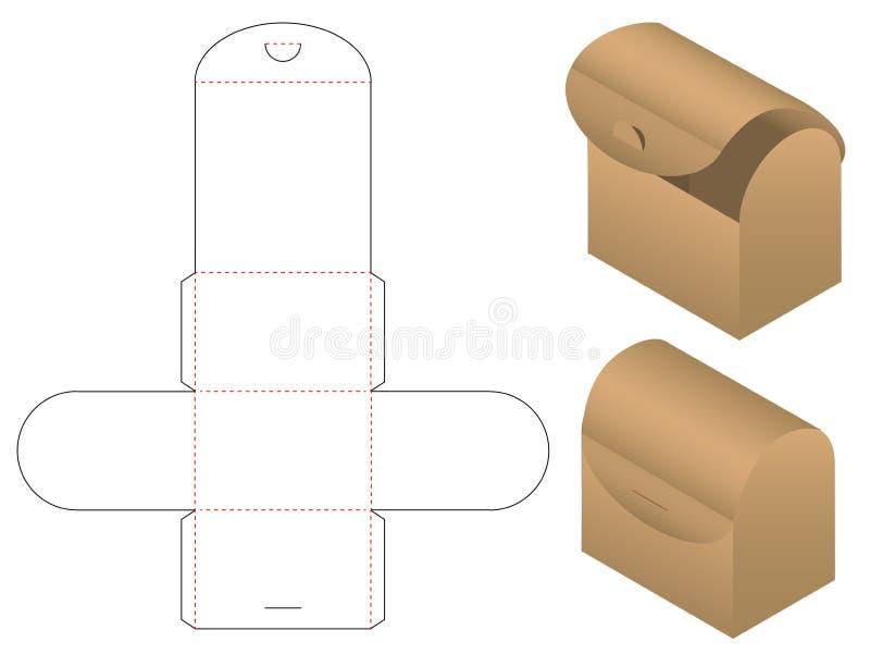 Ask som förpackar stansad malldesign modell 3d stock illustrationer