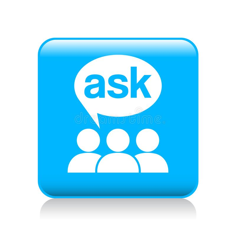 Ask support icon vector illustration