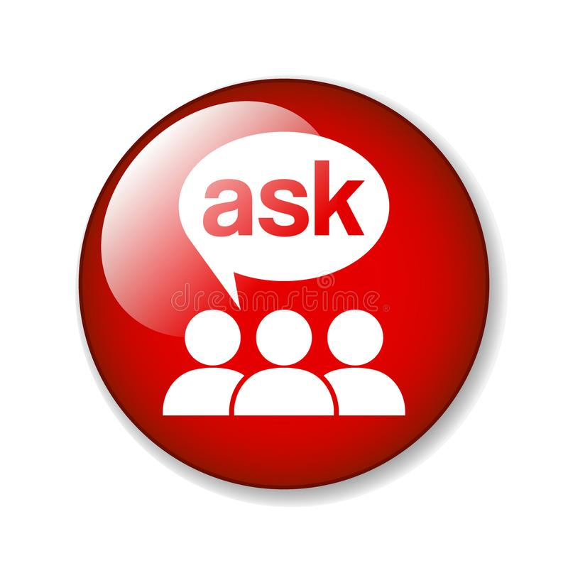 Free Ask Support Icon Stock Image - 124985871