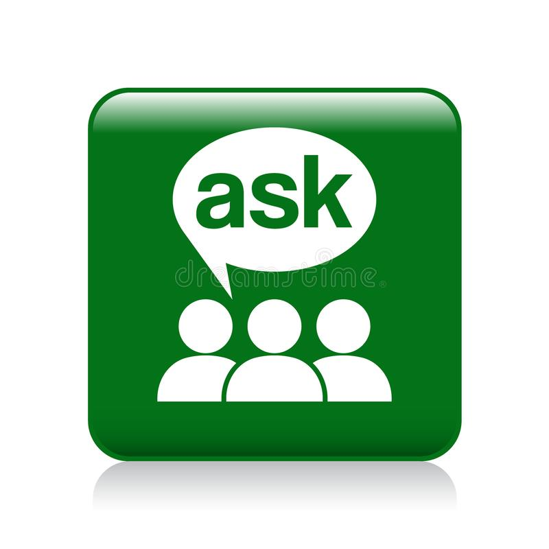 Ask support icon royalty free illustration