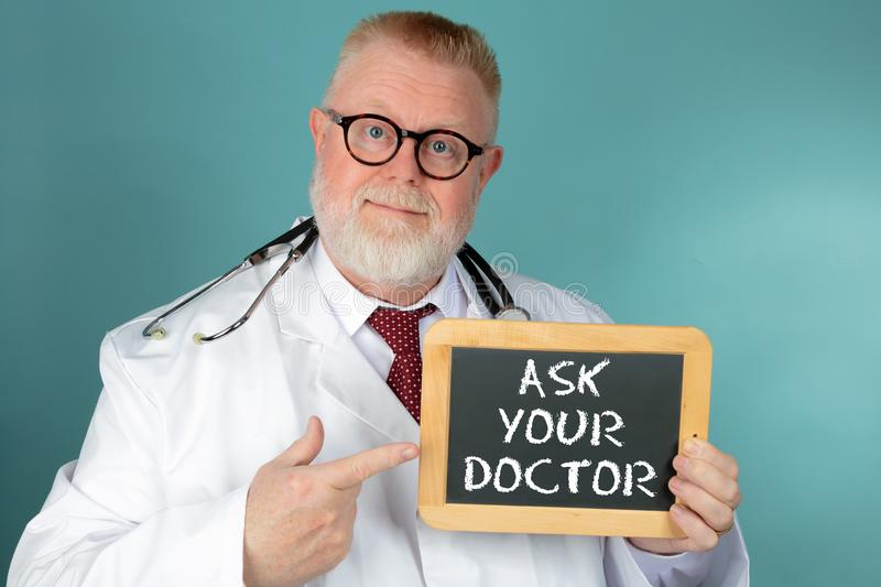 Ask your Doctor royalty free stock photography