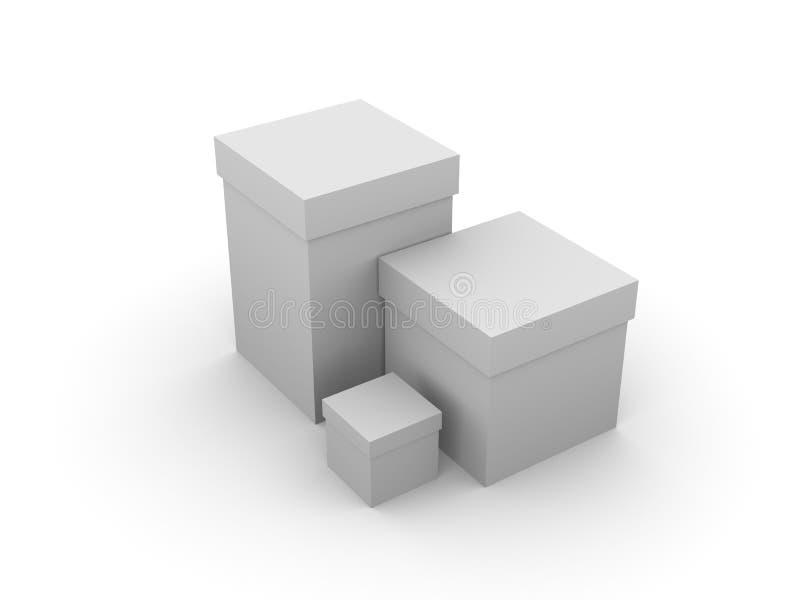 askar vektor illustrationer