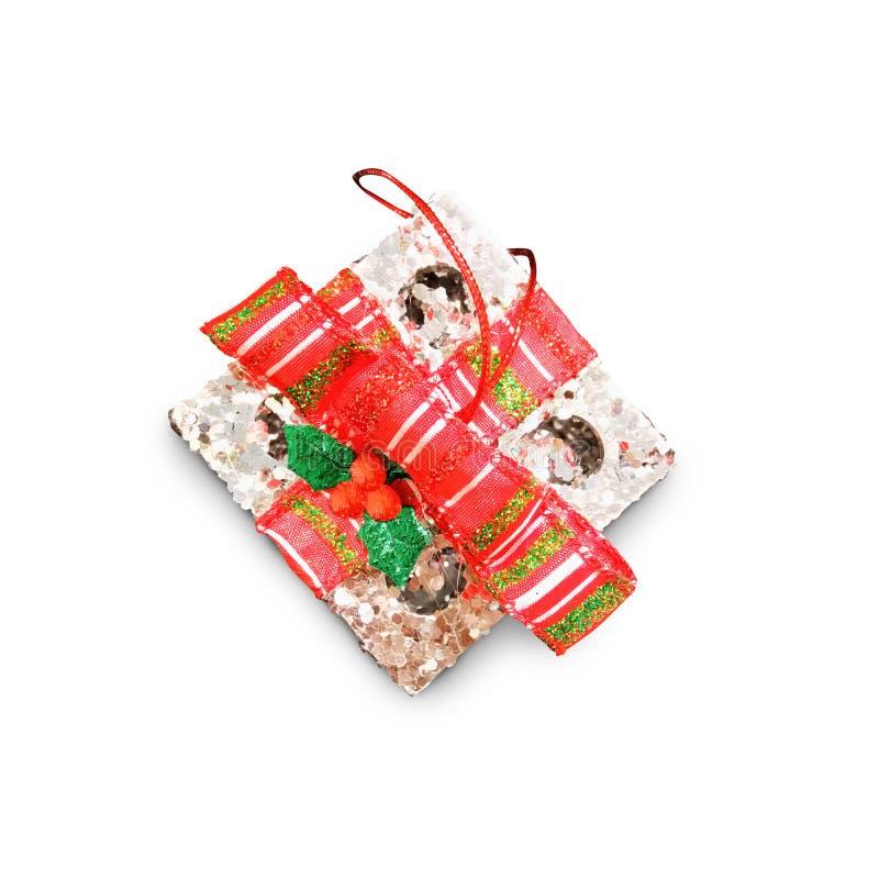 Askar för gåva för dag för ` s för jul och för nytt år, backg för vit för gåvaaskar royaltyfria bilder