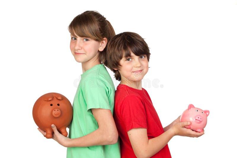 askbroderpengar två arkivfoton