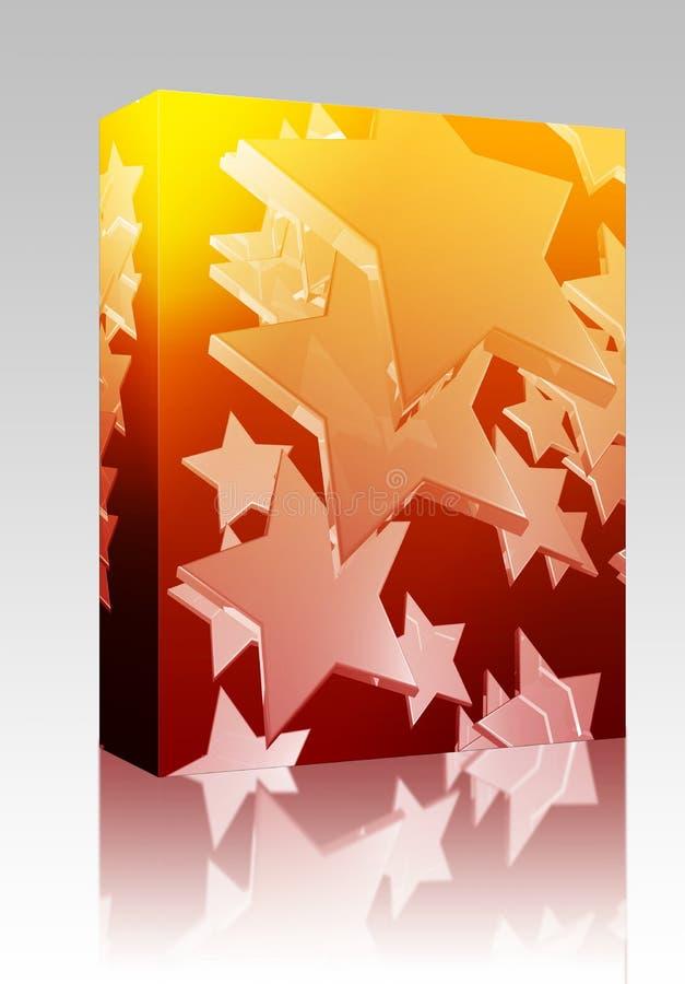asken som flyger många, emballage stjärnor royaltyfri illustrationer