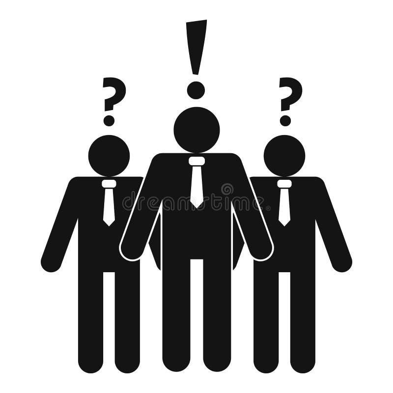 Asking teamwork icon, simple style stock illustration