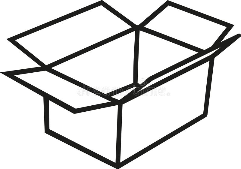 Asklådaöversikt vektor illustrationer