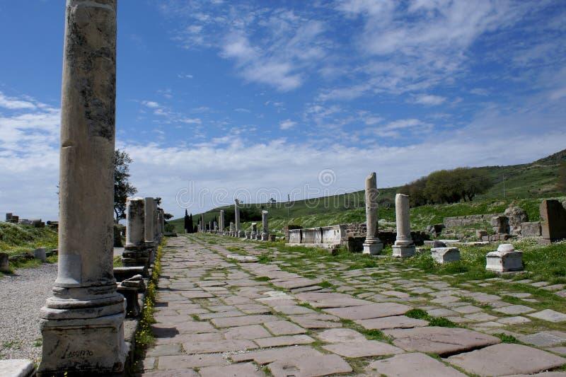 asklepieion pergamon royaltyfria bilder