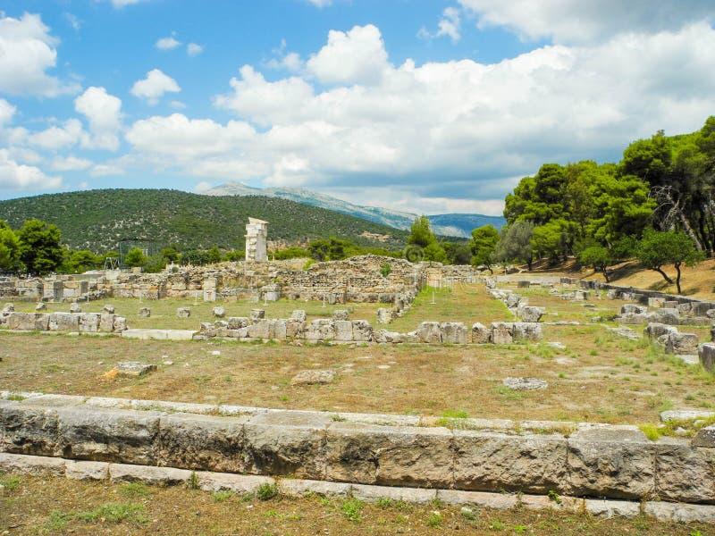 Asklepion в Epidaurus стоковое изображение