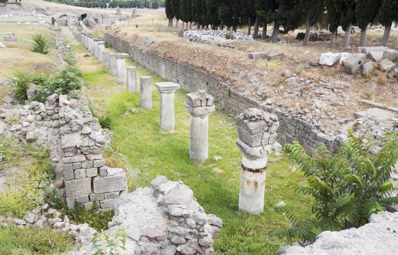 Asklepion di Pergamum fotografie stock libere da diritti