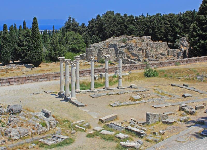 Asklepion, Kos, Grecja obraz stock