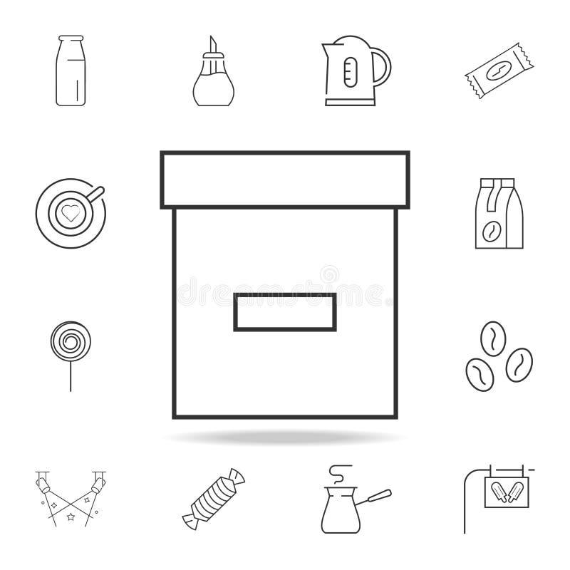 Asklinje symbol Detaljerad uppsättning av rengöringsduksymboler och tecken Högvärdig grafisk design En av samlingssymbolerna för  stock illustrationer