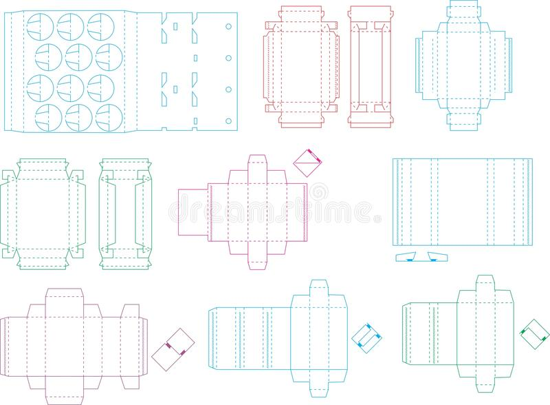 Askmallsamling 08 eps royaltyfri illustrationer