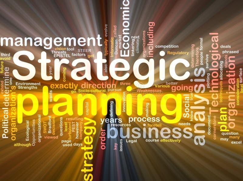 askoklarhetspacke som planerar strategiskt ord vektor illustrationer