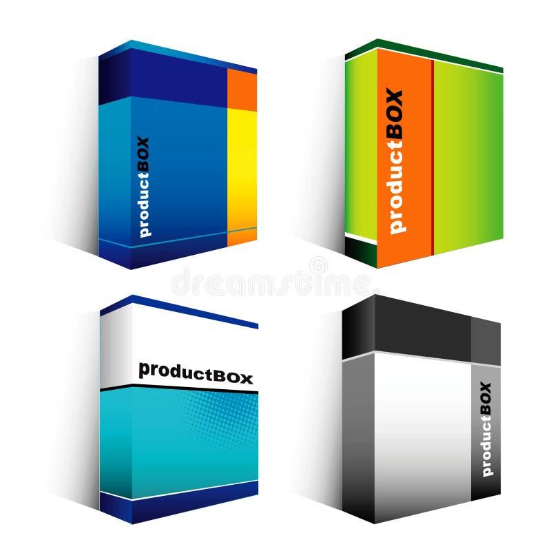 askprogramvara stock illustrationer