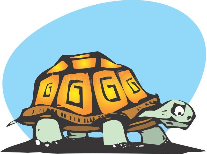 asksköldpadda vektor illustrationer