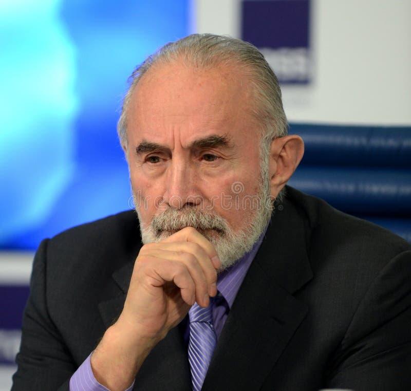 Aslambek Aslakhanov - político ruso, miembro del consejo de la federación Diputado Chairman del comité de consejo de la federació imágenes de archivo libres de regalías