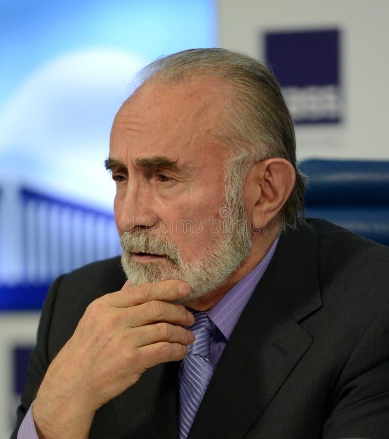 Aslambek Aslakhanov - Russische politicus, lid van de Raad van Federatie Afgevaardigde Chairman van het Federatiecomité van de ra royalty-vrije stock afbeelding