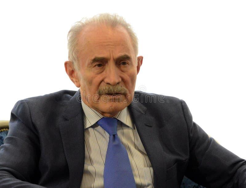 Aslambek Aslakhanov - russischer Politiker, Mitglied des Rates der Vereinigung Abgeordneter Chairman des Vereinigungs-Ratsausschu stockfoto