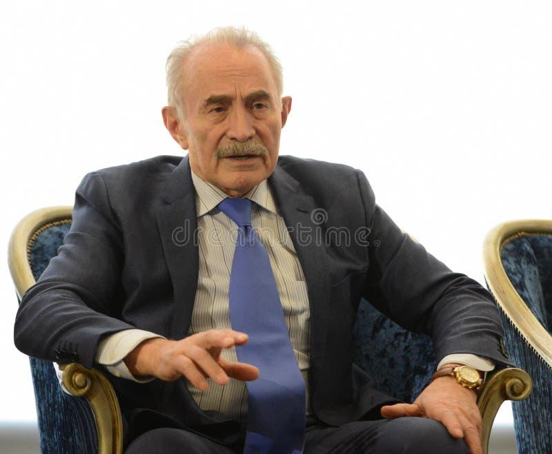 Aslambek Aslakhanov - rysk politiker, medlem av rådet av federation Ställföreträdande Chairman av federationrådskommittén på arkivfoton