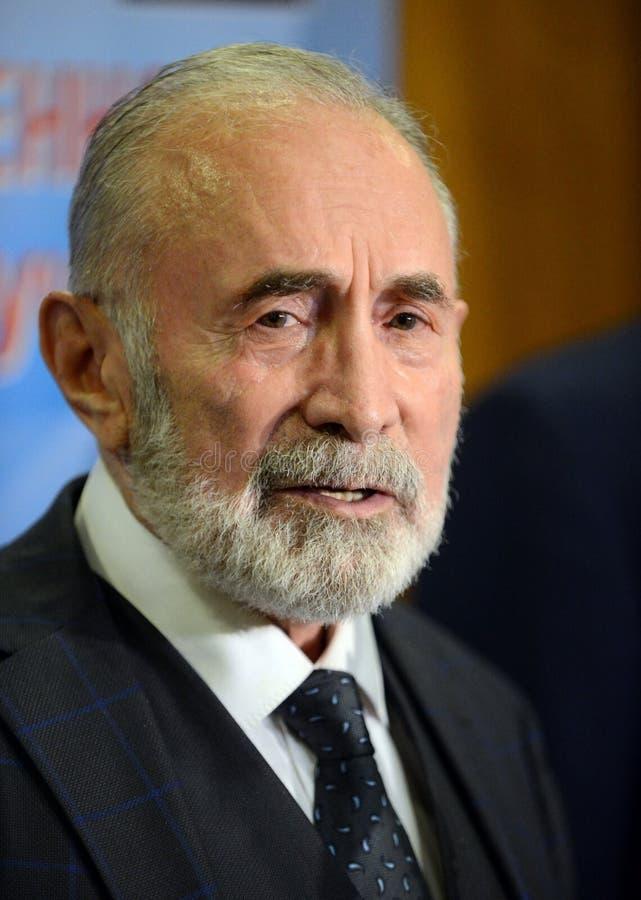 Aslambek Aslakhanov - rysk politiker, medlem av rådet av federation Ställföreträdande Chairman av federationrådskommittén på fotografering för bildbyråer
