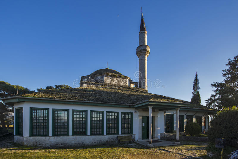 Aslan Pasha Mosque, in the castle of Ioannina, Epirus. Greece stock images