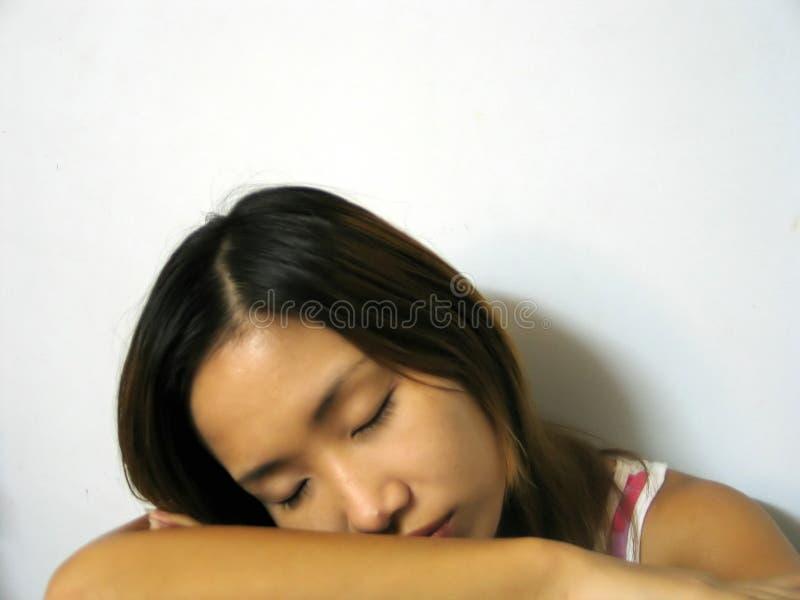 Asleep stock photography