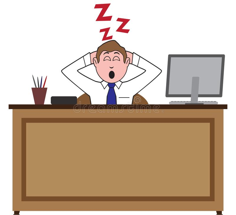 Asleep on the Job stock illustration