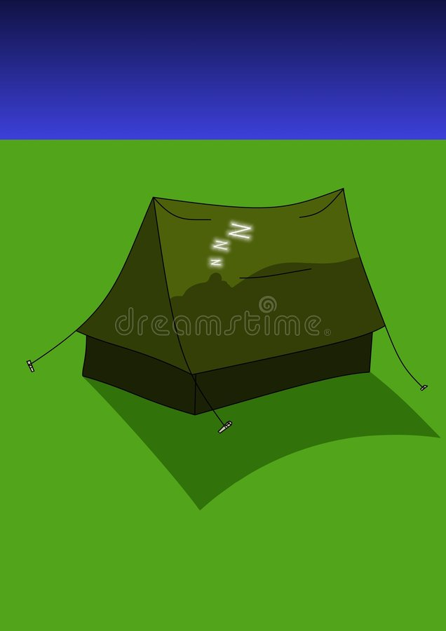 Asleep In A Tent Stock Image