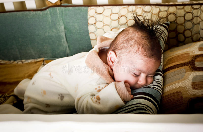 Download Asleep on tummy stock image. Image of sleep, holding - 12270181