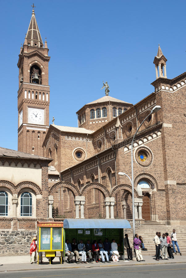 asmara budował Eritrea katedralnego włocha zdjęcia royalty free