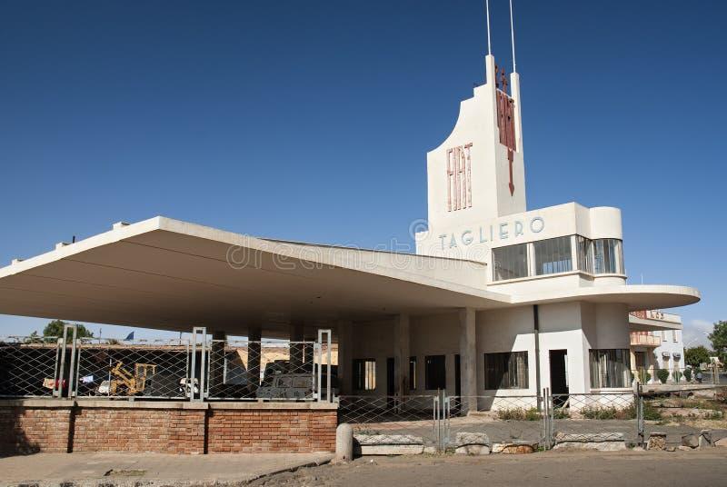 asmara budynku Eritrea futurysty modernista zdjęcia royalty free