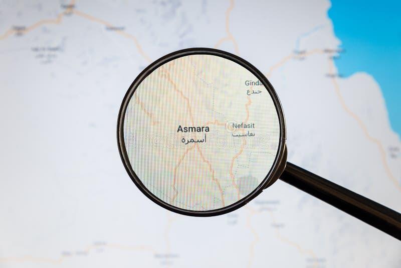 Asmara, Eritrea correspondencia pol?tica imagen de archivo