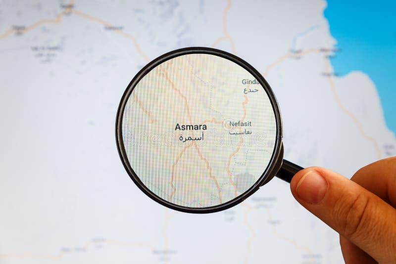 Asmara, Eritrea correspondencia pol?tica imágenes de archivo libres de regalías