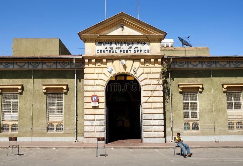 asmara poczta środkowa biurowa Eritrea zdjęcia stock